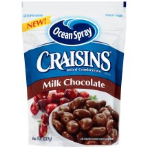 Ocean Spray Craisins Milk Chocolate Dried Cranberries, 8 oz