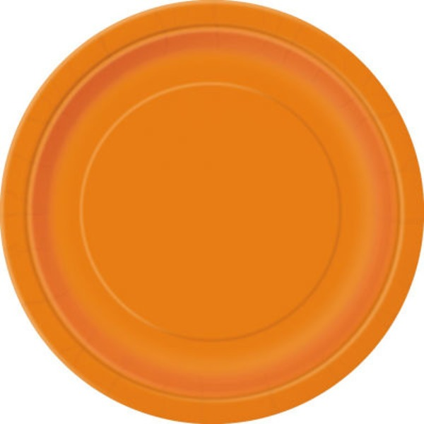 Unique Pumpkin Orange 9 Inch Plates