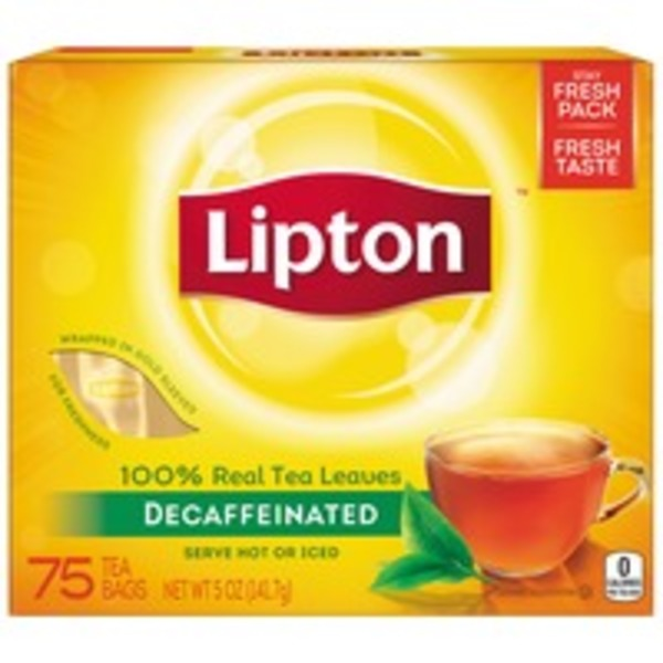 Lipton Decaffeinated Black Tea Bags