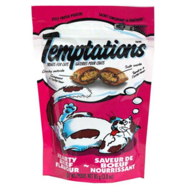 Temptations Hearty Beef Cat Care & Treats