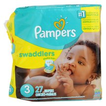 Pampers Swaddlers Diapers, Size 3, 27 Diapers