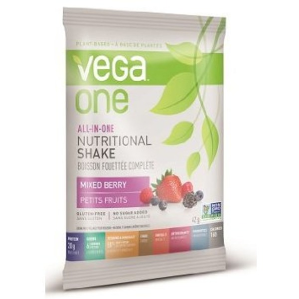Vega One Plant-Based Mixed Berry Flavor Nutritional Shake Drink Mix