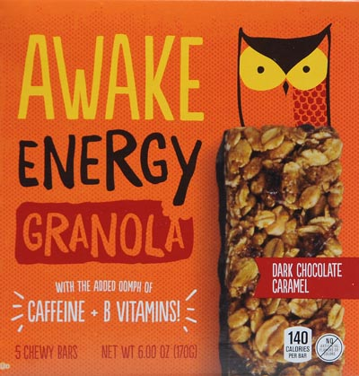 Awake Energy Dark Chocolate Caramel Granola Bar