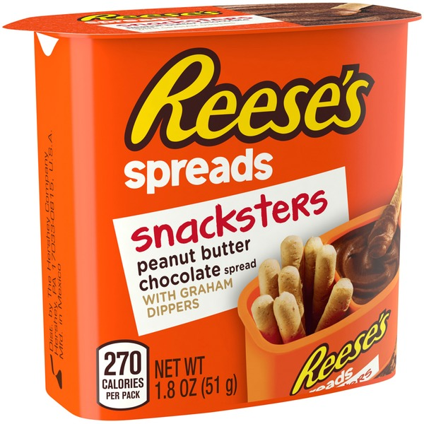 Reese's Spreads Peanut Butter Chocolate with Graham Dippers  Snacksters