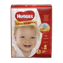 HUGGIES Little Snugglers Diapers, Size 3, 27 Diapers