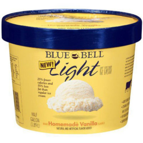 Blue Bell Light Ice Cream