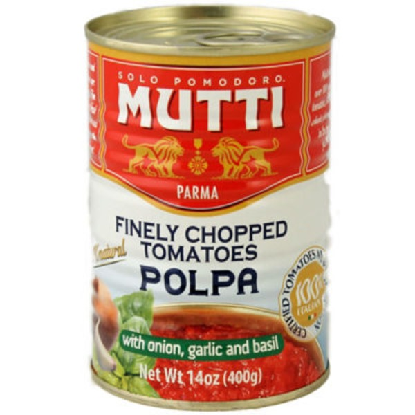 Mutti Finely Chopped With Onion Garlic and Basil Tomatoes