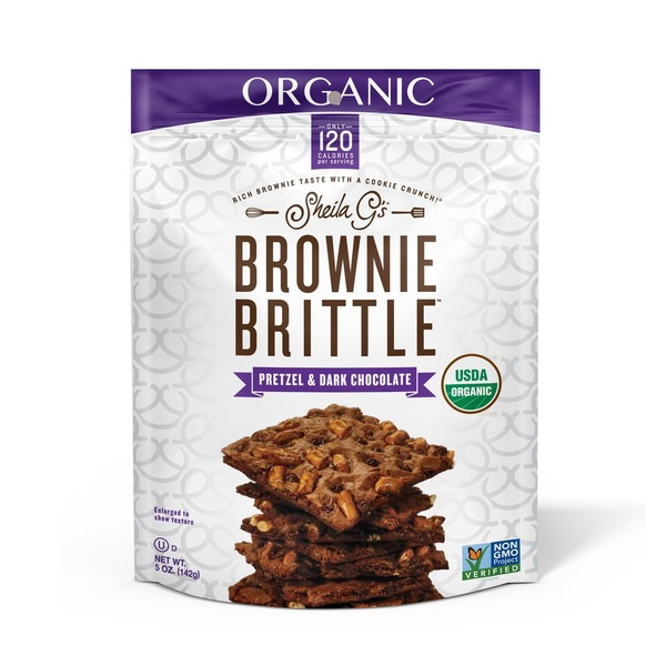 Sheila G's Brownie Brittle Organic Pretzel & Dark Chocolate