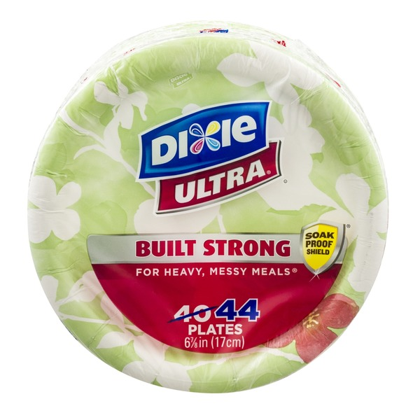 Dixie Ultra Built Strong Soak Proof Sheild Plates - 44 CT
