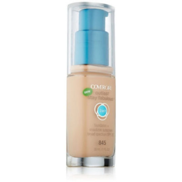 CoverGirl Outlast All Day COVERGIRL Outlast All-Day Stay Fabulous 3-in-1 Foundation, Warm Beige 1 fl oz (30 ml) Female Cosmetics