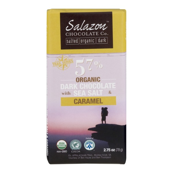 Salazon Chocolate Co. 57% Organic Dark Chocolate With Sea Salt & Caramel