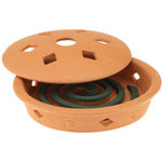Pic Combo Mosquito Coil Holder Terra Cotta Burner with 4 Mosquito Coils