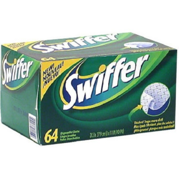 Swiffer Sweeper Dry Sweeping Pad Refills for Floor mop Unscented 64 Count Surface Care