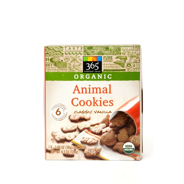 365 Organic Animal Cookies 6 Pack