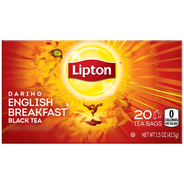 Lipton Daring English Breakfast Black Tea Bags