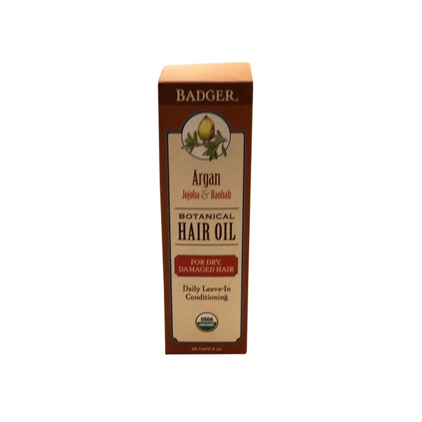 Badger Argan Botanical Hair Oil For Dry And Damaged Hair