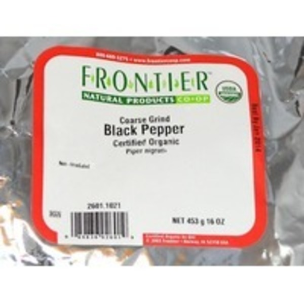 Frontier Organic Coarse Black Pepper