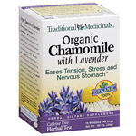 Traditional Medicinals Organic Chamomile with Lavender Herbal Dietary Supplement Tea Bags