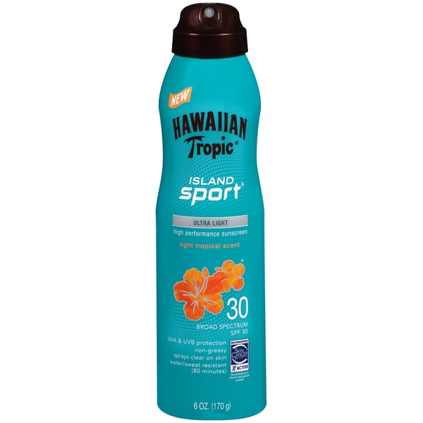 Hawaiian Tropic Island Sport SPF 30 Spray Sunscreen