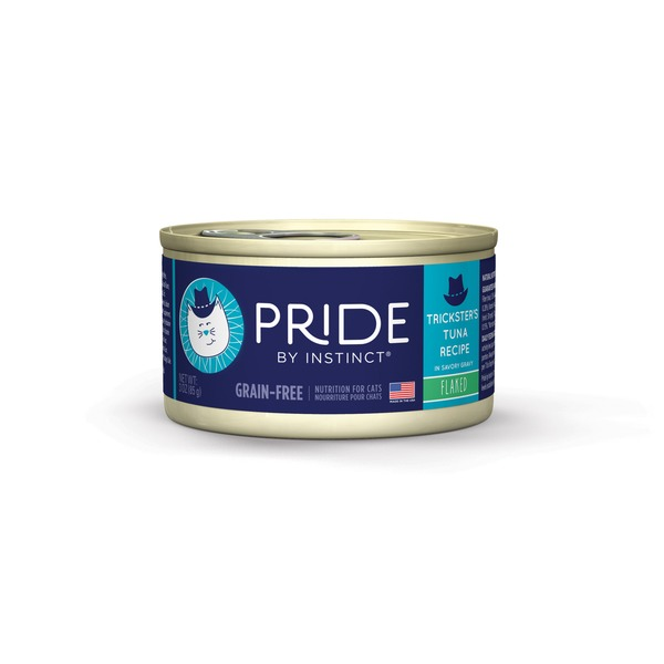 Nature's Variety Pride By Instinct Grain Free Flaked Trickster's Tuna Canned Cat Food 3 oz