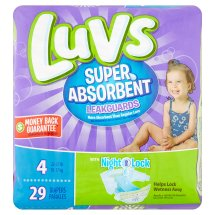 Luvs Super Absorbent Leakguards Diapers, Size 4, 29 Diapers