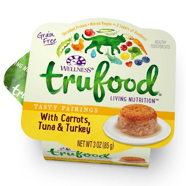 Wellness Tru Food Tasty Pairings Carrots Tuna & Turkey Wet Cat Food 3 Oz. Case Of 24