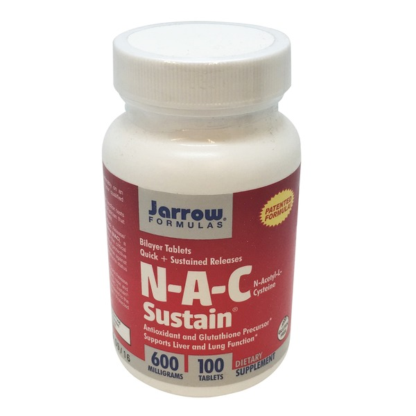 Jarrow Formulas N-A-C Sustain 600 mg Tablets