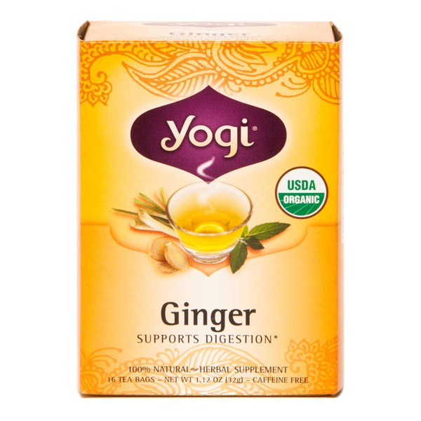 Yogi Organic Ginger Herbal Tea, Caffeine Free