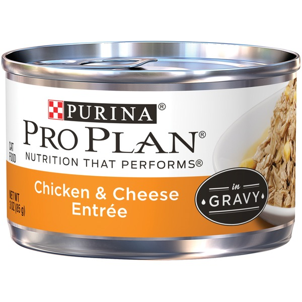 Pro Plan Cat Wet Adult Chicken & Cheese Entree in Gravy Cat Food
