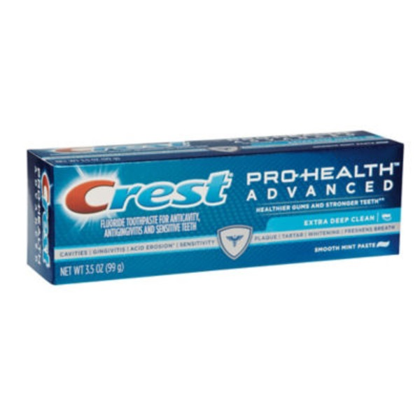 Crest Advanced Cleaning Crest Pro-Health Advanced Extra Deep Clean Toothpaste 3.5 oz. Dentifrice