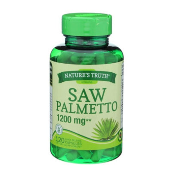Nature's Truth Organic Saw Palmetto 1200 MG - 120 CT