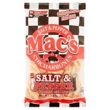 Mac's Salt & Pepper Pork Skin Chicharrones, 2.5 oz