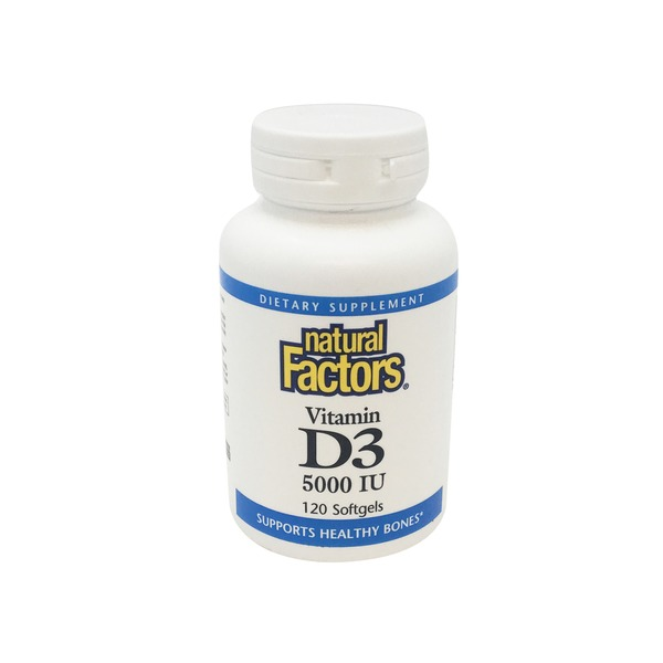 Natural Factors Edap Vit D3 5000 Iu 120 Sg