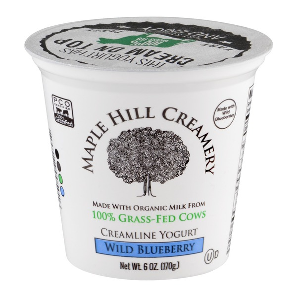 Maple Hill Creamery Creamline Yogurt Wild Blueberry