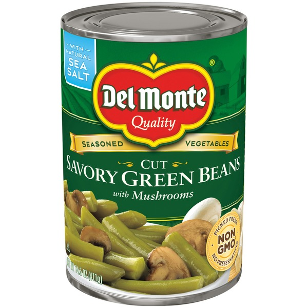 Del Monte Cut Savory with Mushrooms Green Beans
