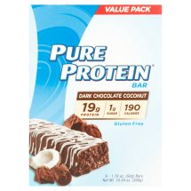 Pure Protein Bar, 19 Grams of Protein, Dark Chocolate Coconut, 1.76 Oz, 6 Ct