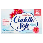 Cuddle Soft Dryer Sheets, Original Fresh, 40 Sheets