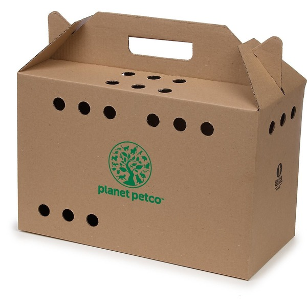 Planet Petco Cardboard Cat Carrier