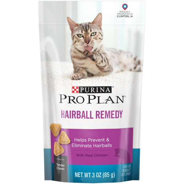 Pro Plan Cat Treats Focus Hairball Remedy with Real Chicken Cat Snacks