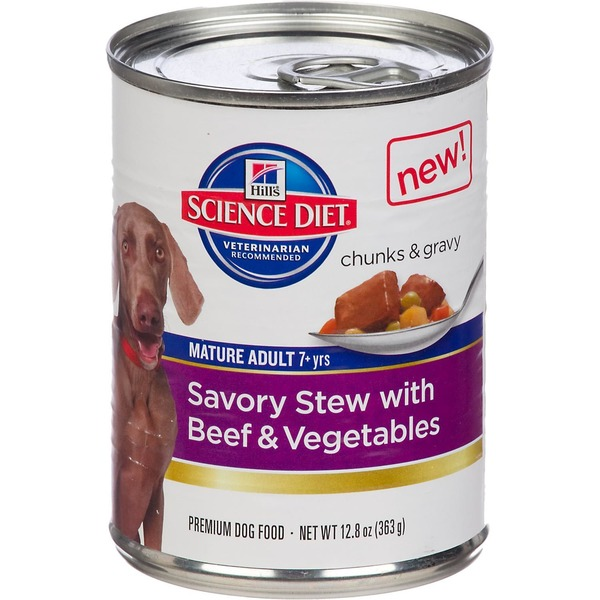 Hill's Science Diet Dog Food, Premium, Mature Adult, Savory Stew with Beef & Vegetables