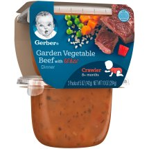 Gerber 3rd Foods Lil' Bits Garden Vegetable & Beef Dinner Baby Food, 5 oz Tubs, 2 Count