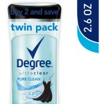 Degree Women Pure Clean UltraClear Antiperspirant Deodorant 2.6 oz, Twin Pack