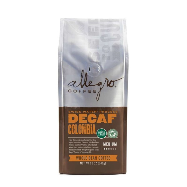 Allegro Coffee Decaf Colombian Ground Coffee