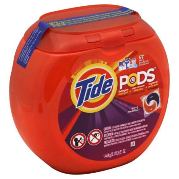 Tide PODS HE Turbo Laundry Detergent Pacs, Spring Meadow Scent, 57 count Laundry