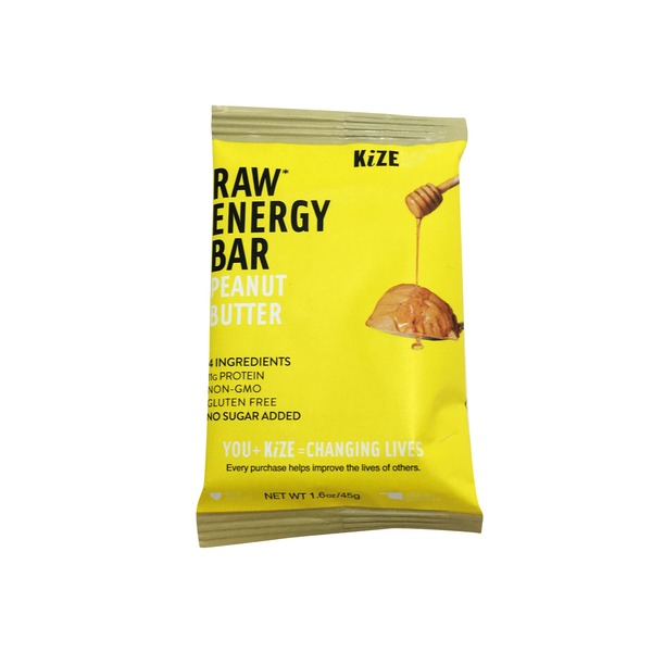 KiZE Peanut Butter Raw Energy Bar
