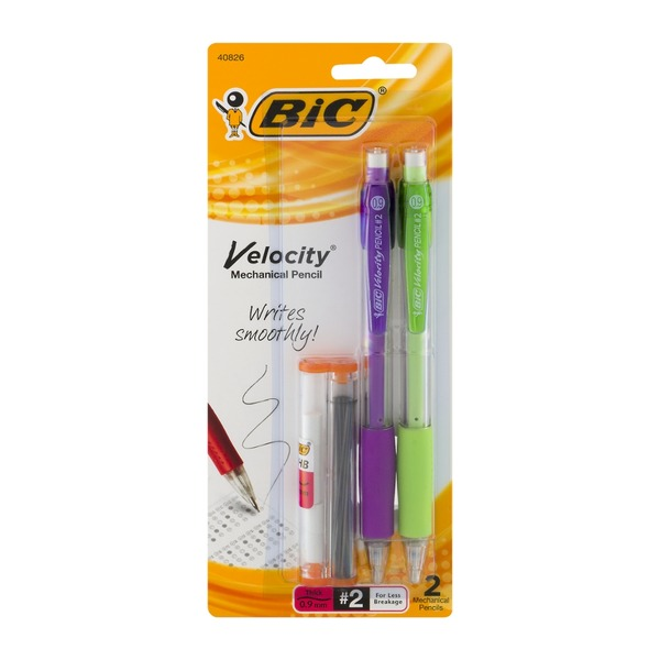BiC Velocity #2 Thick Mechanical Pencils - 2 CT