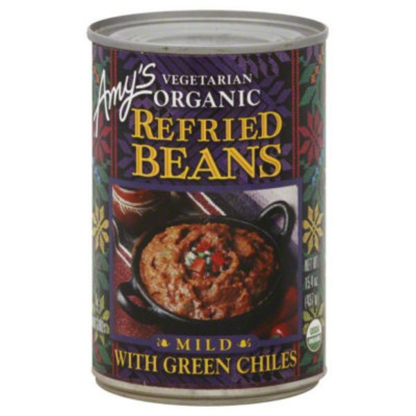 Amy's Refried Beans With Mild Green Chiles