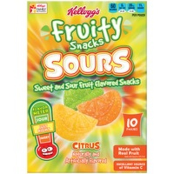 Kellogg's Sours Citrus Fruit Flavored Snacks