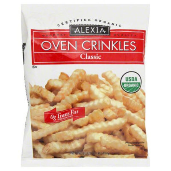 Alexia Organic Crinkle Cut Fries with Sea Salt