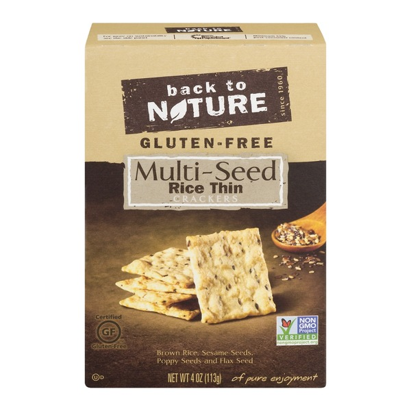 Back to Nature Multi-Seed Crackers, Gluten Free